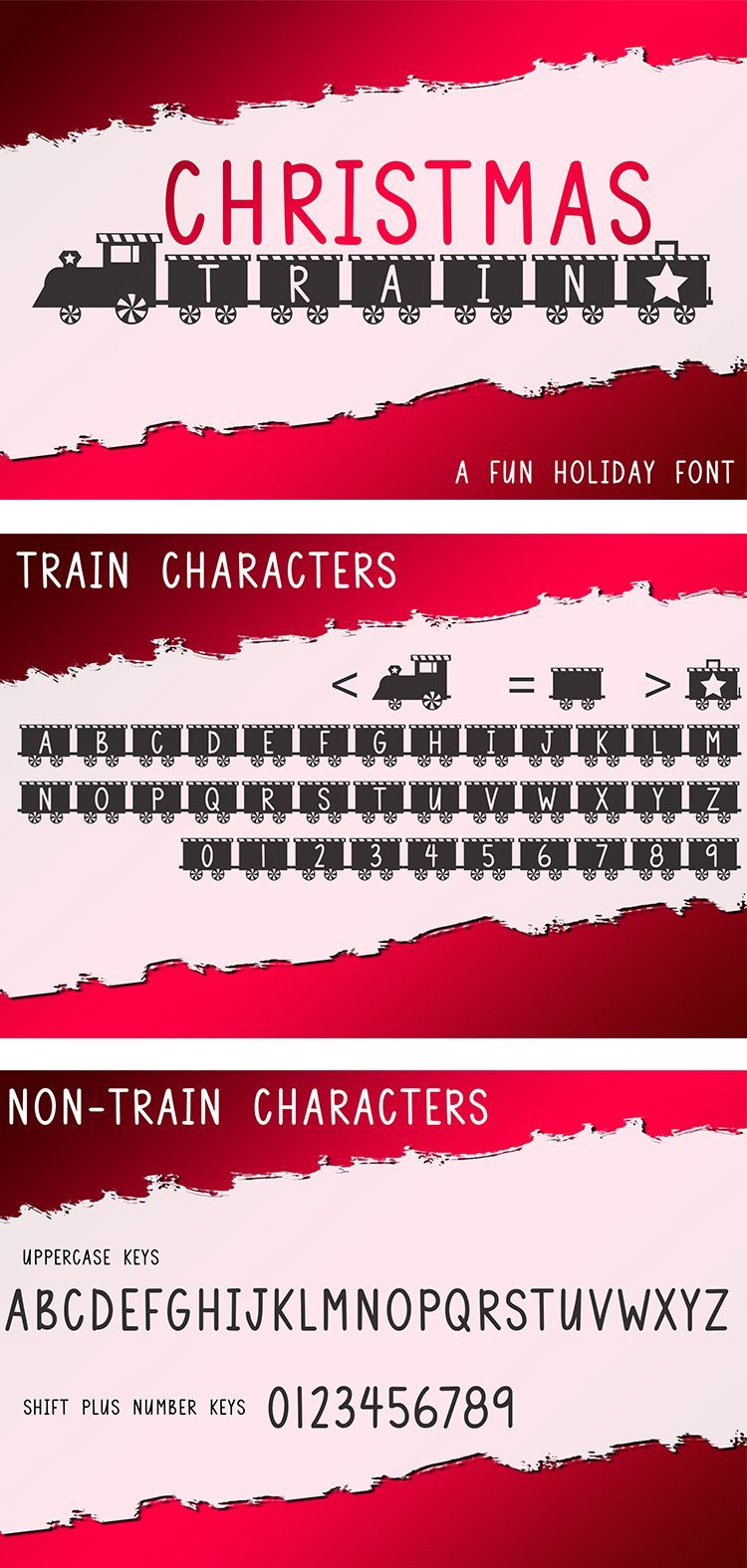 Christmas Train - A Fun Holiday Font example image 7