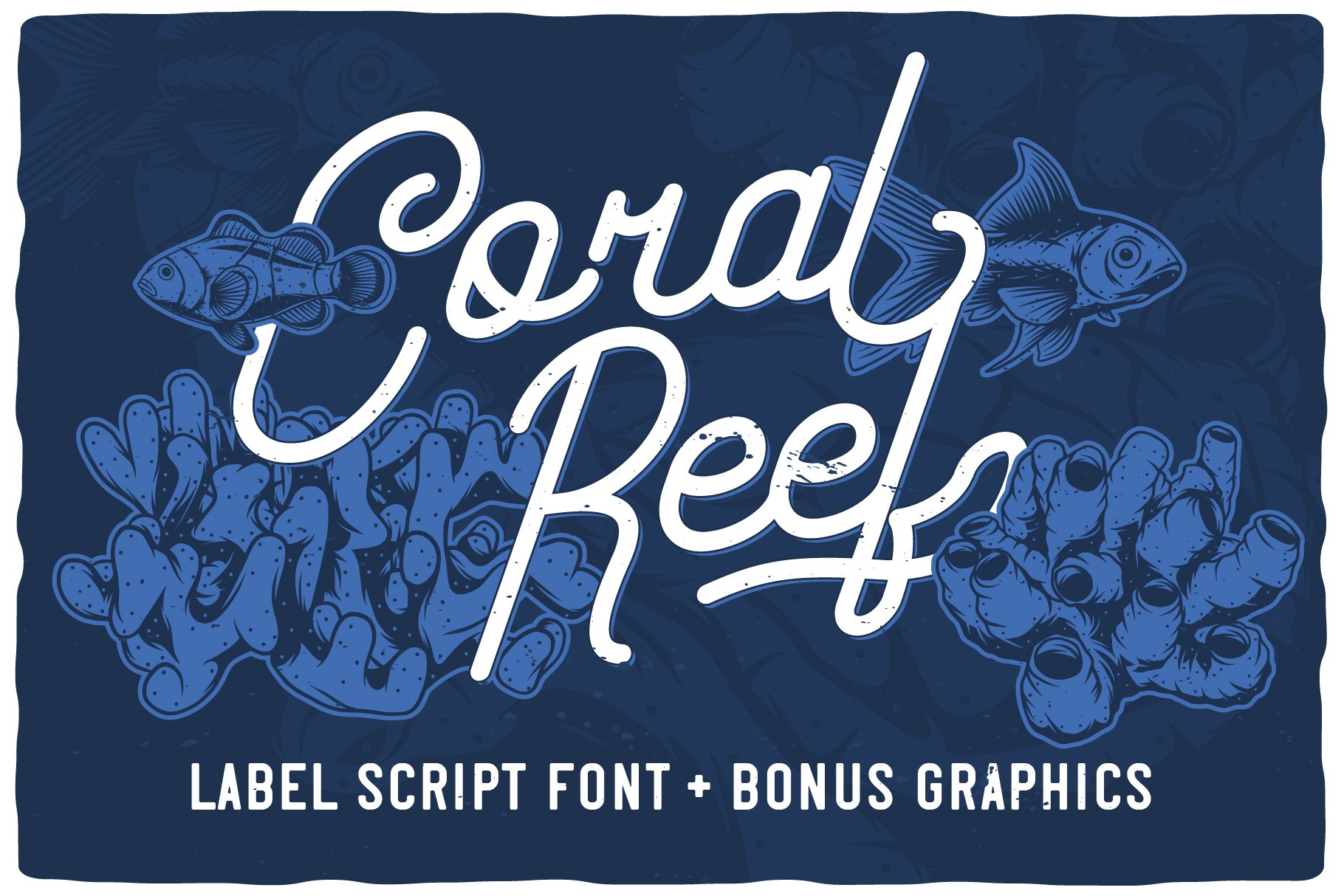 Coral Reef script font example image 1