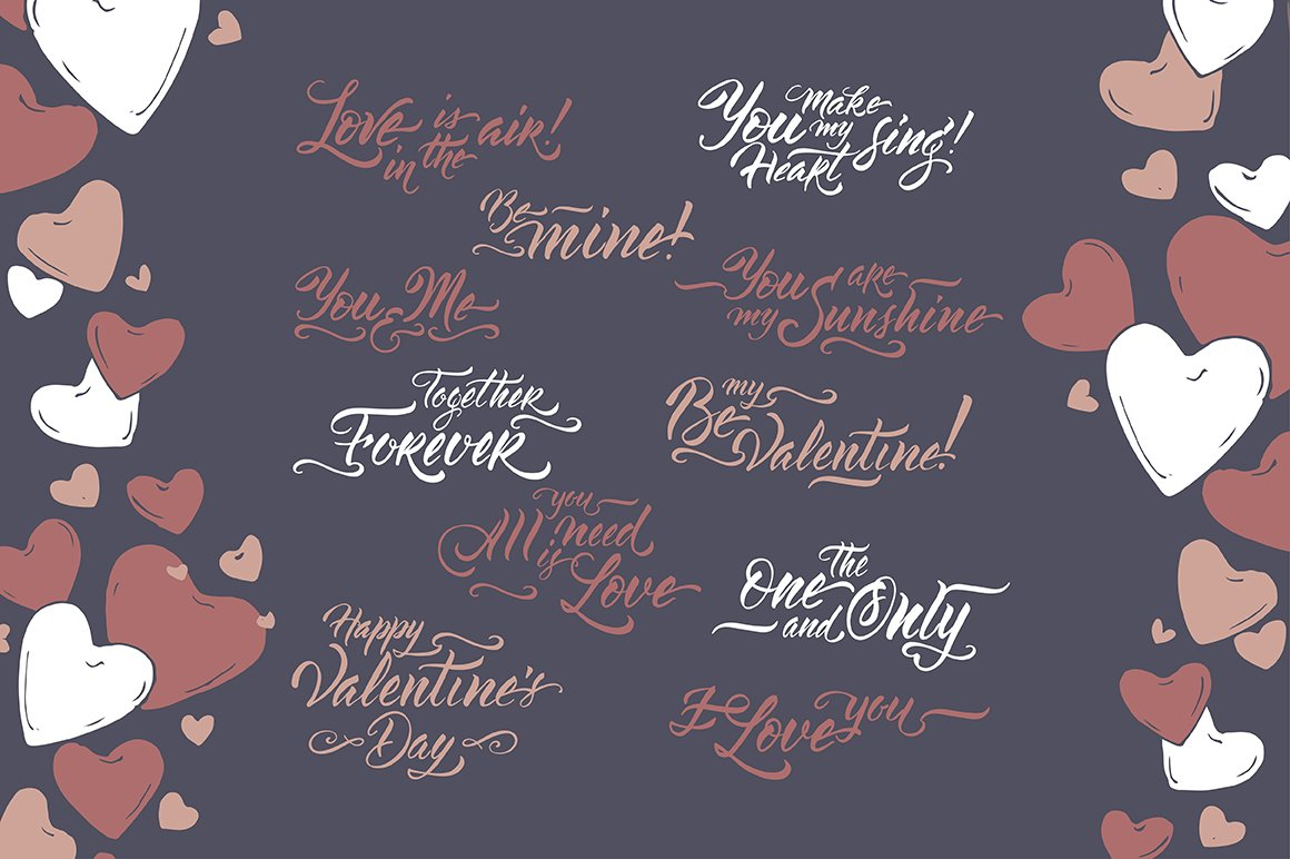 6 Romantic cards and lettering example image 3