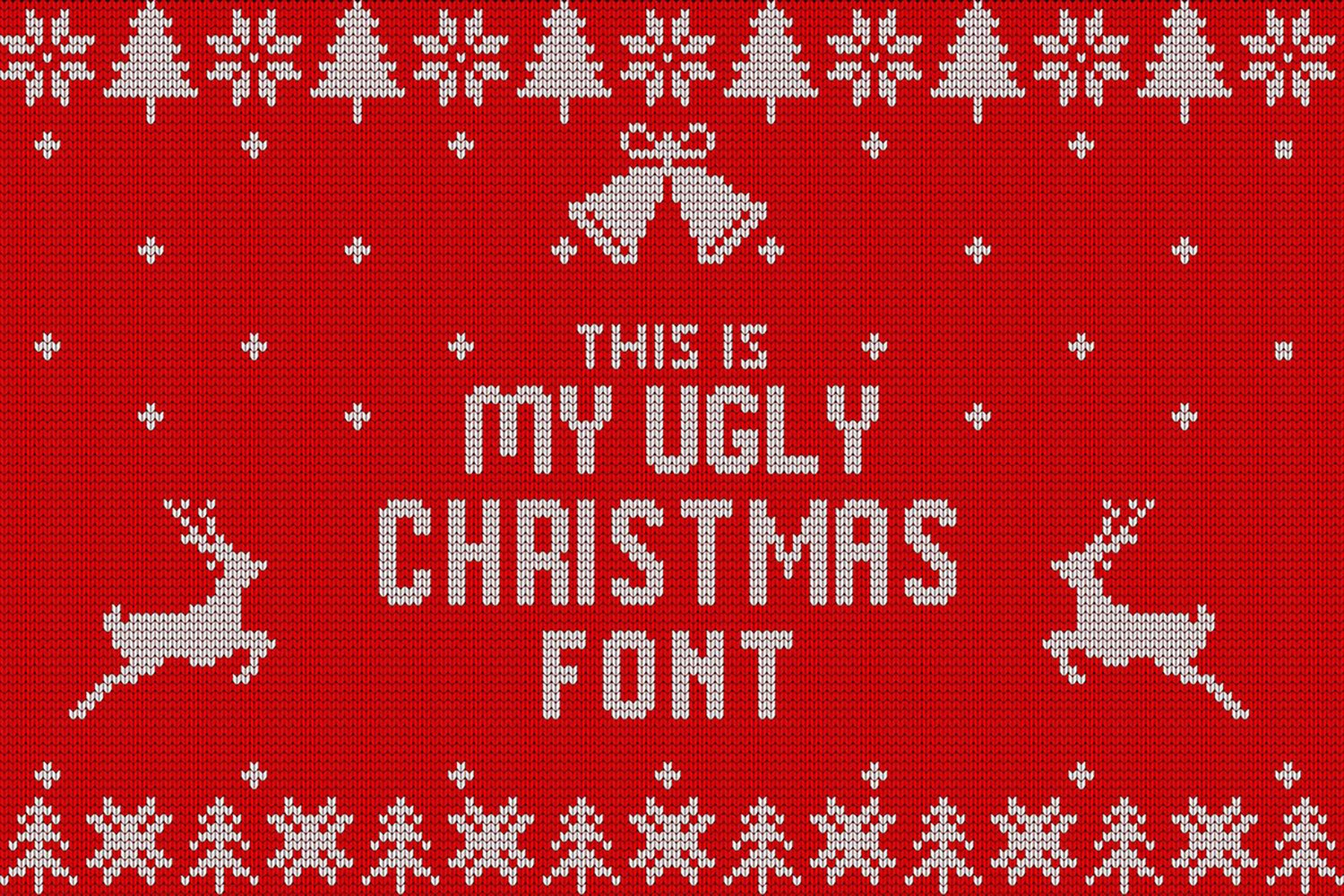 Christmas Knitted Font example image 1