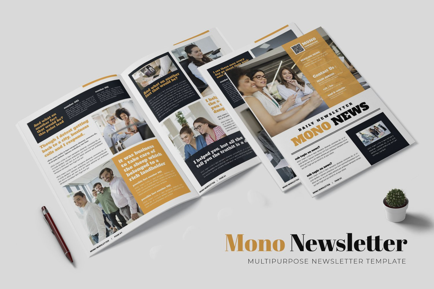 Mono Newsletter Template example image 1