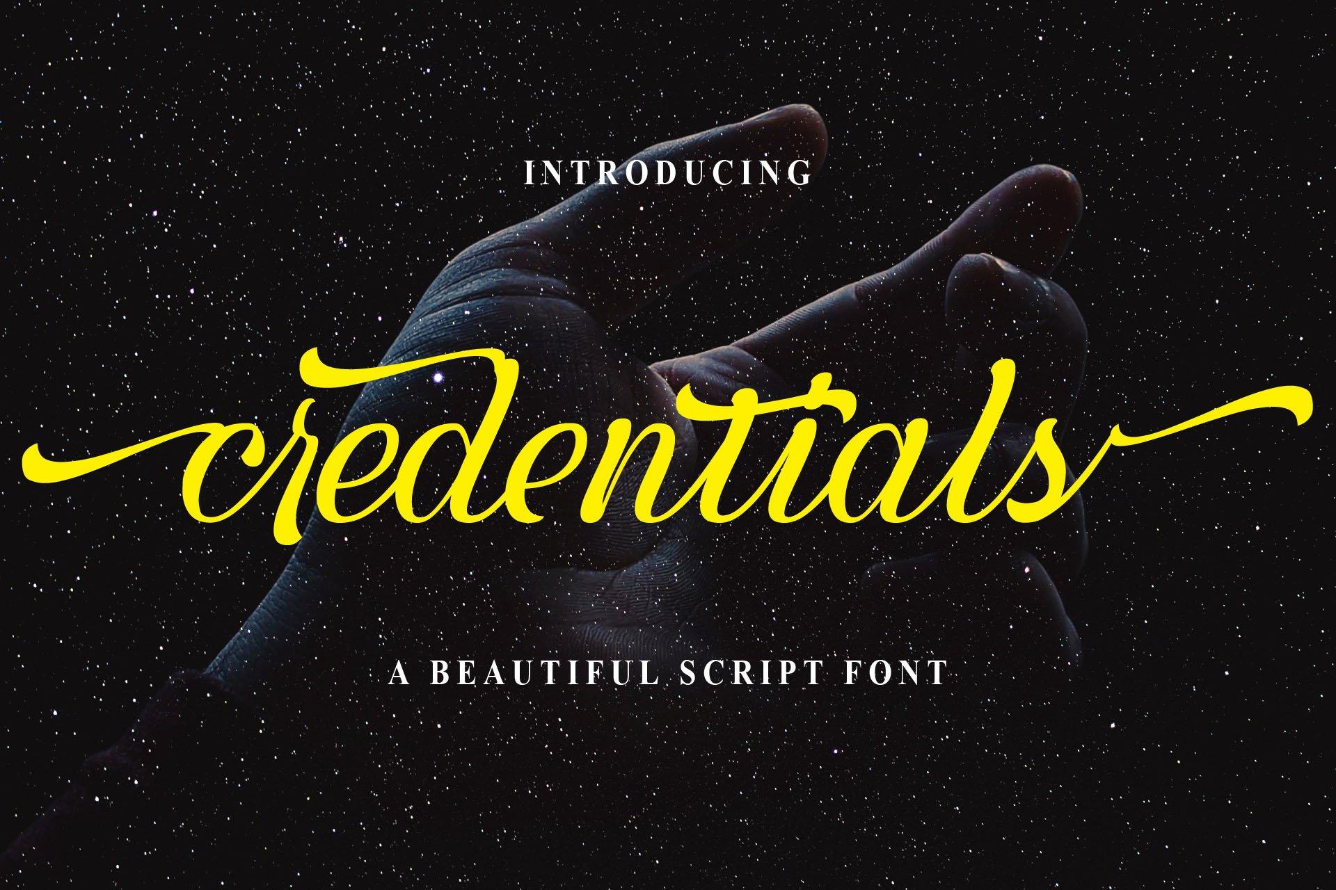 Credentials example image 1