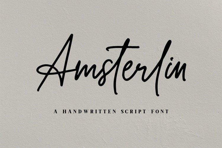 Amsterlin//Handwritten Script Font example image 5
