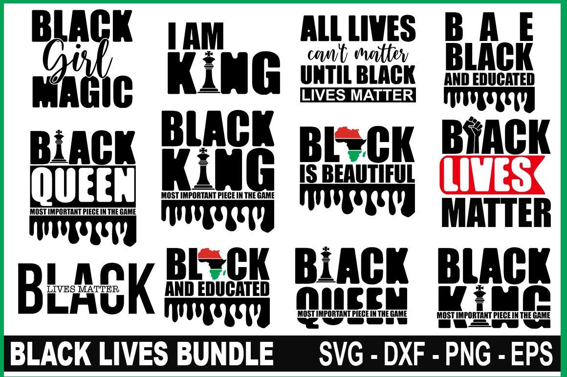 Black lives matter svg,Black Lives bundle,Black lives sign example image 4