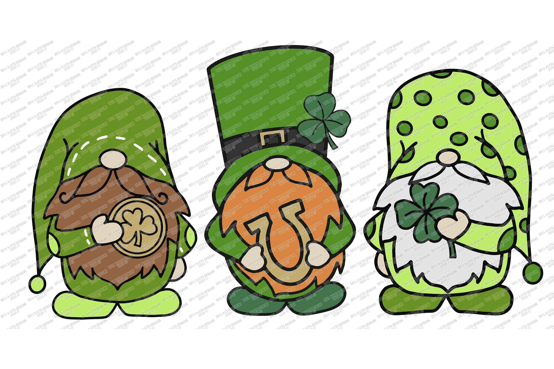 Download St. Patrick's Day Gnomes Gnome Trio - Gnomies - Patty's ...