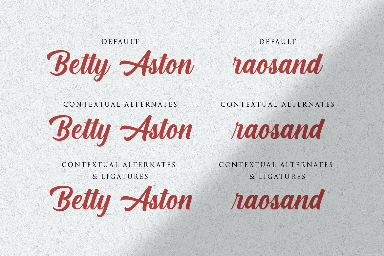 Cream Cake | New Bold Script Font example image 2