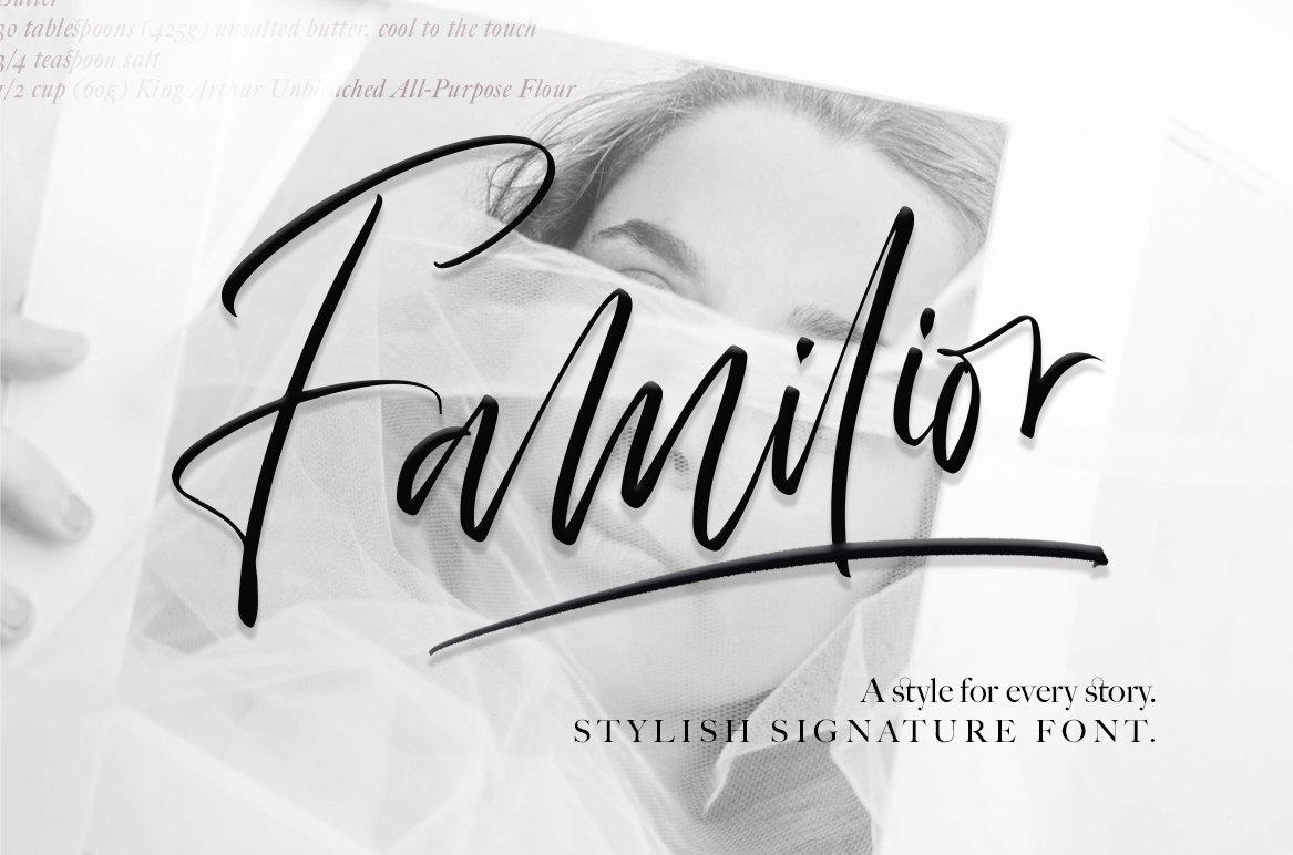 Familior - Signature Font example image 1