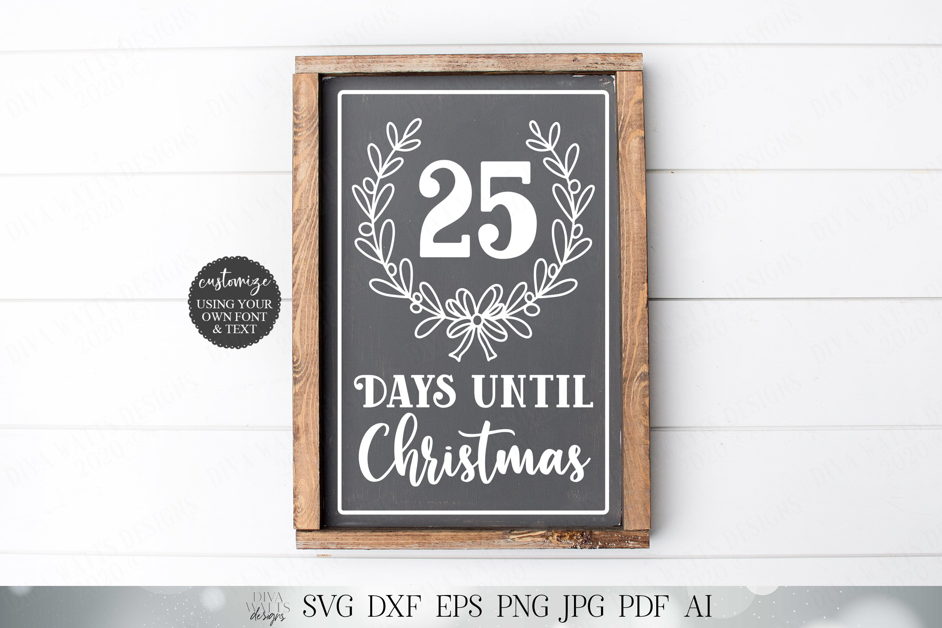 Days Until Christmas - Cutting File and Printable example image 3