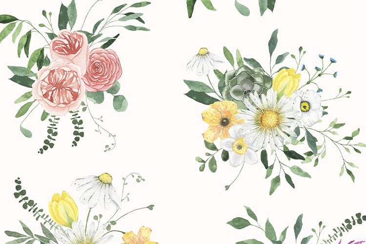 Summer Floral Fields collection example image 7
