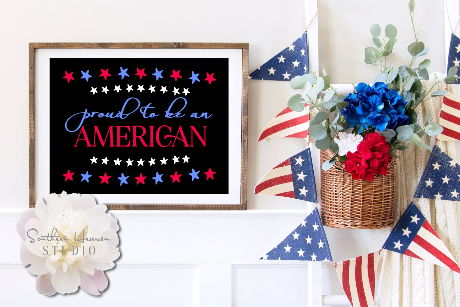PROUD TO BE AN AMERICAN - SVG, PNG, DXF and EPS example image 1