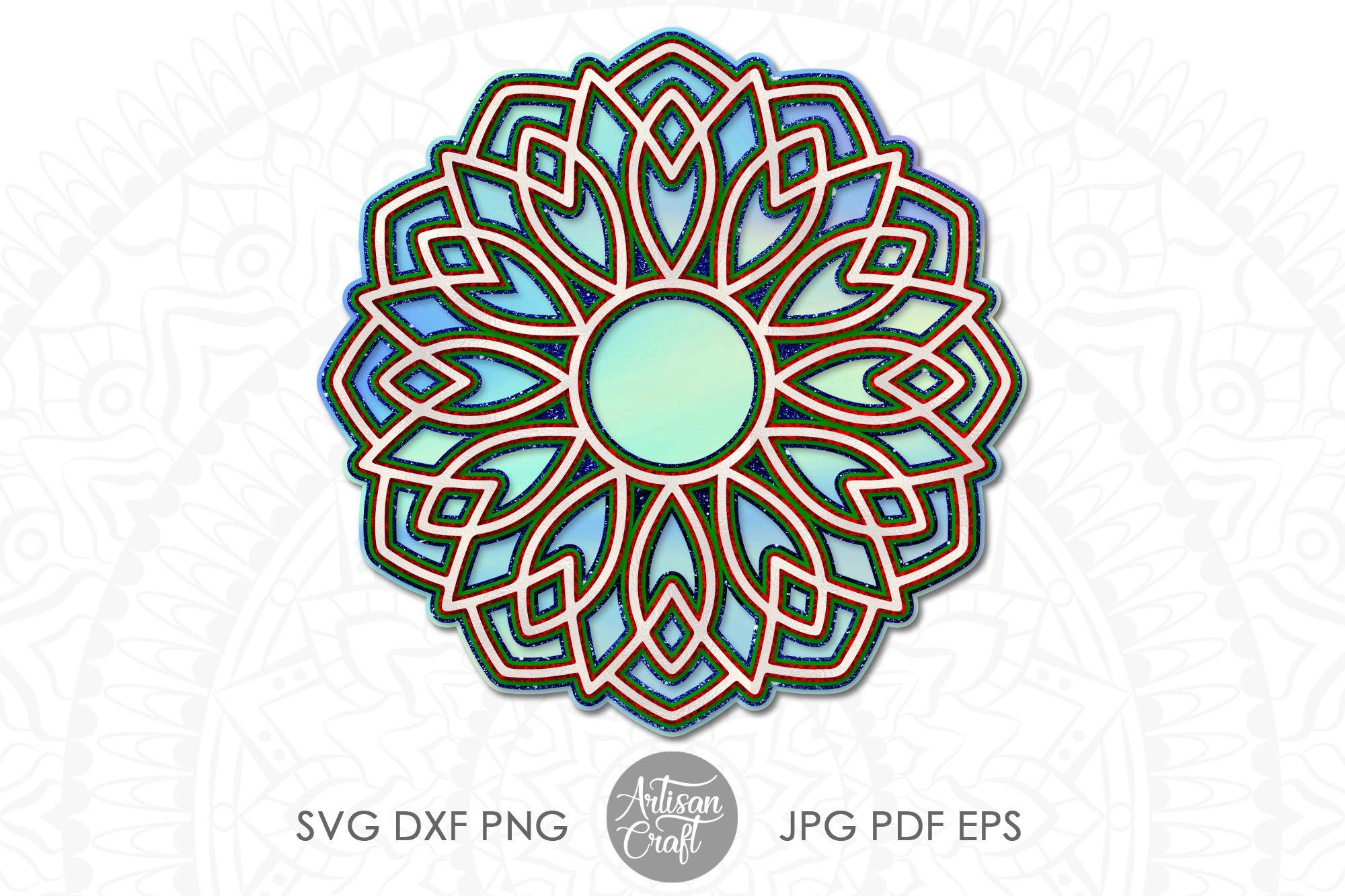 Download 3d Layered Mandala Svg 3d Paper Sculpture Layered Vinyl 857430 Cut Files Design Bundles