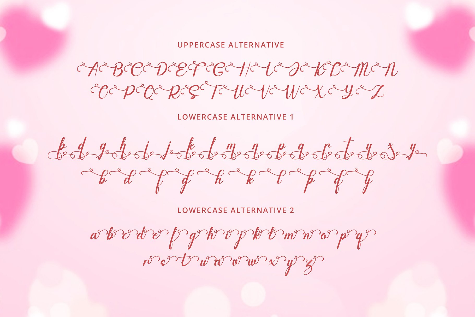 Canding Love - Script font Type face example image 10