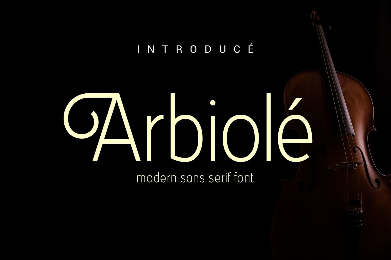Arbiolé - Modern Sans Serif Font example image 1