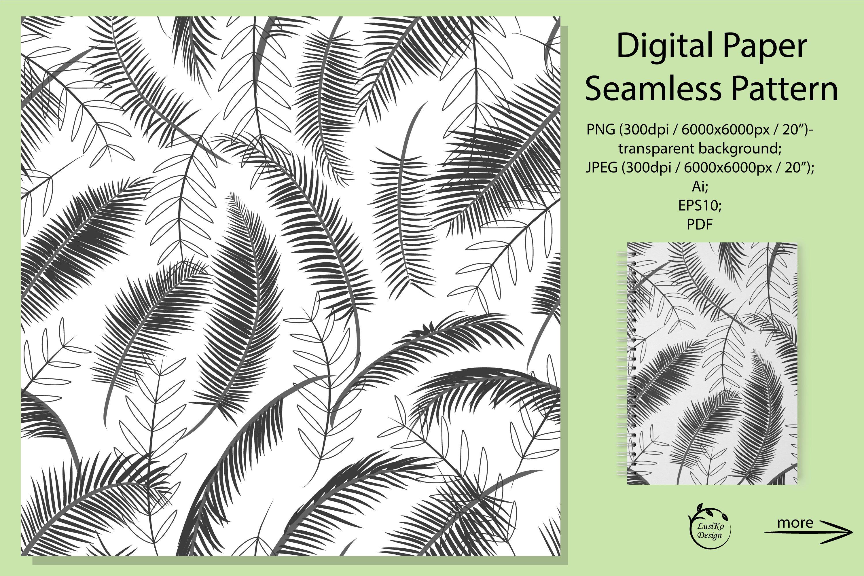 Palm Leaves Digital Paper Pattern Plant Illustration 1036439 Patterns Design Bundles