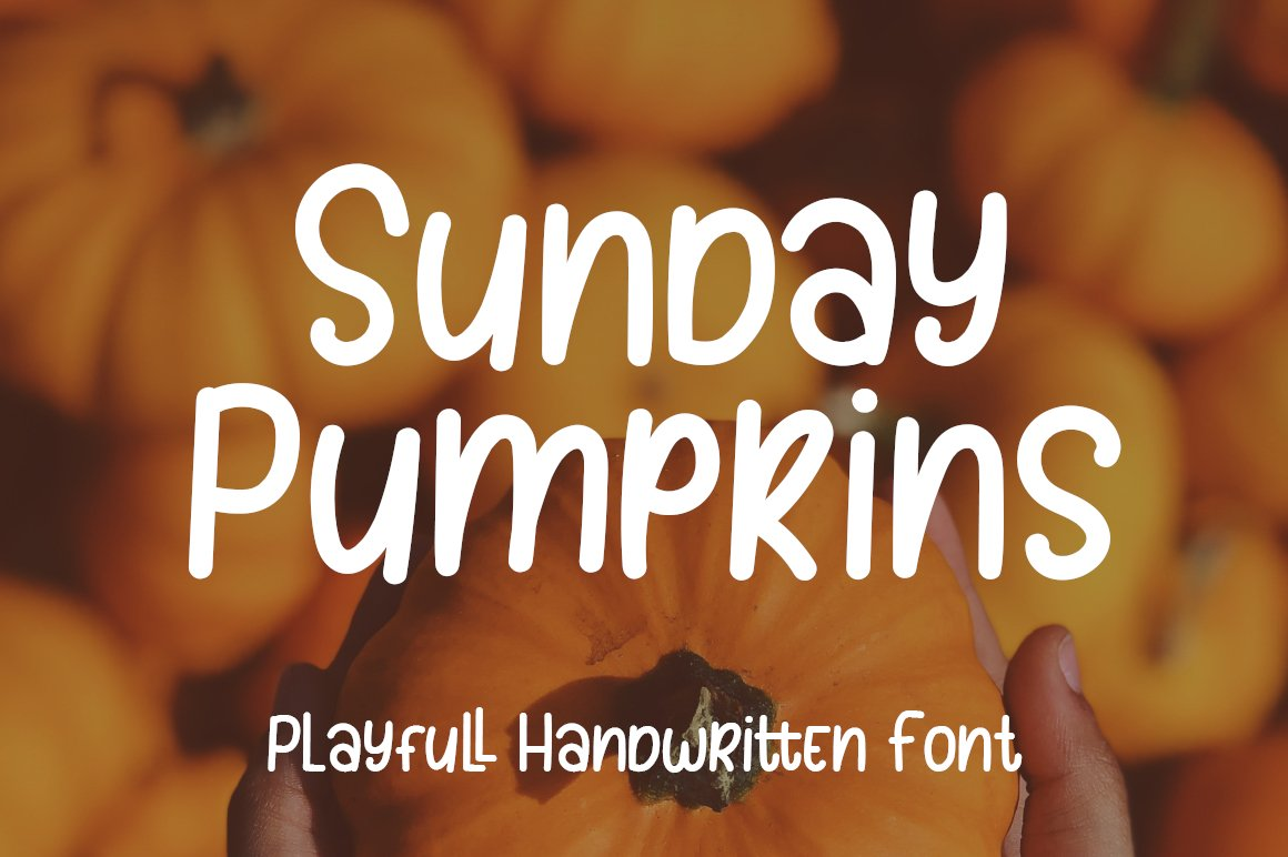 Sunday Pumpkins - Playful Font example image 1