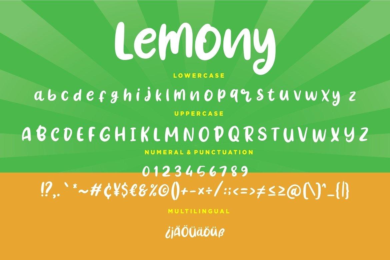 Lemony Fun Handwritten example image 3