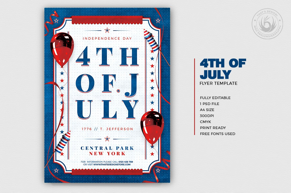 Independence Day Flyer Template V3 example image 2