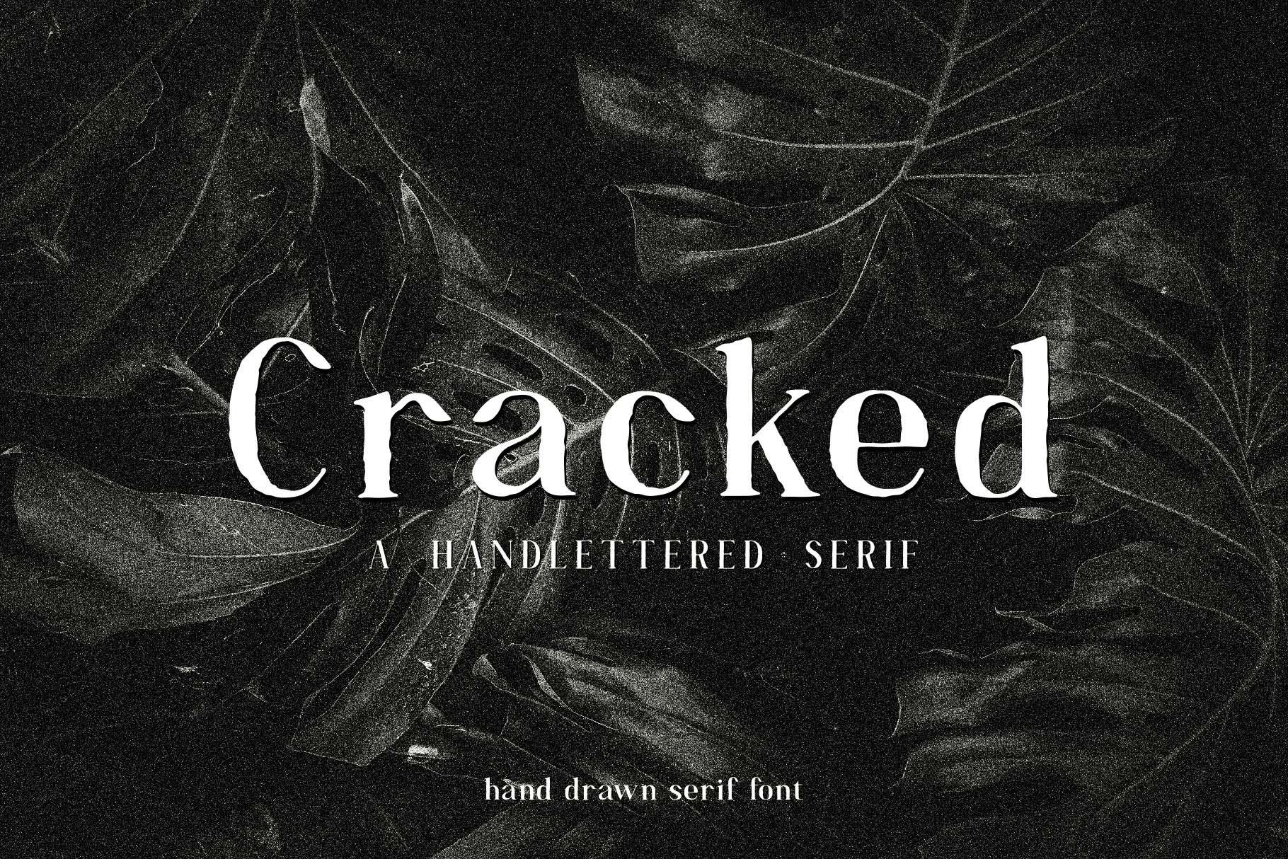 Cracked//A Handlettered Serif example image 1