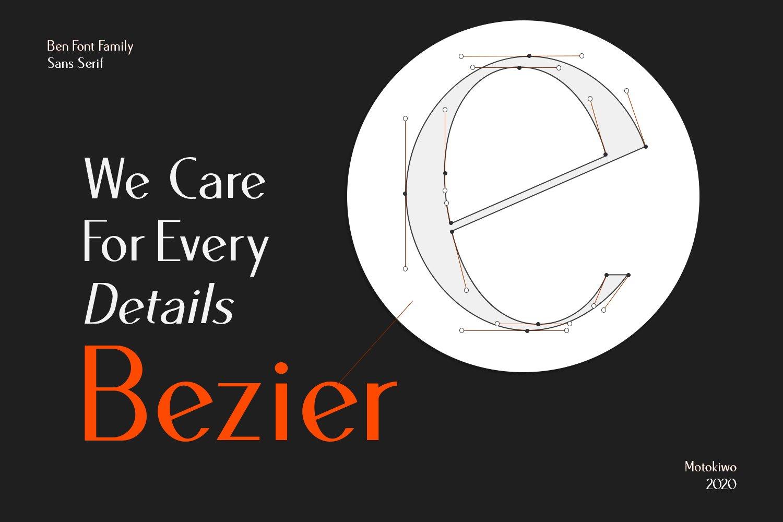 Ben Sans Serif Font Family - 18 Fonts example image 3