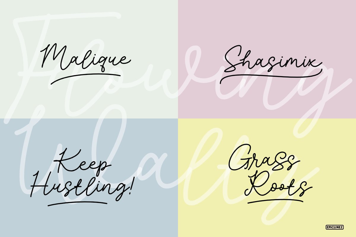 Flowing Waltz - A Stylish Signature Font example image 5
