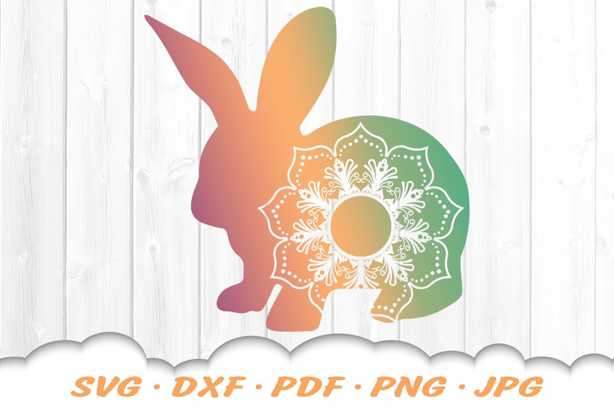 Mandala Easter Bunny Svg Dxf Cut Files 519750 Svgs Design Bundles