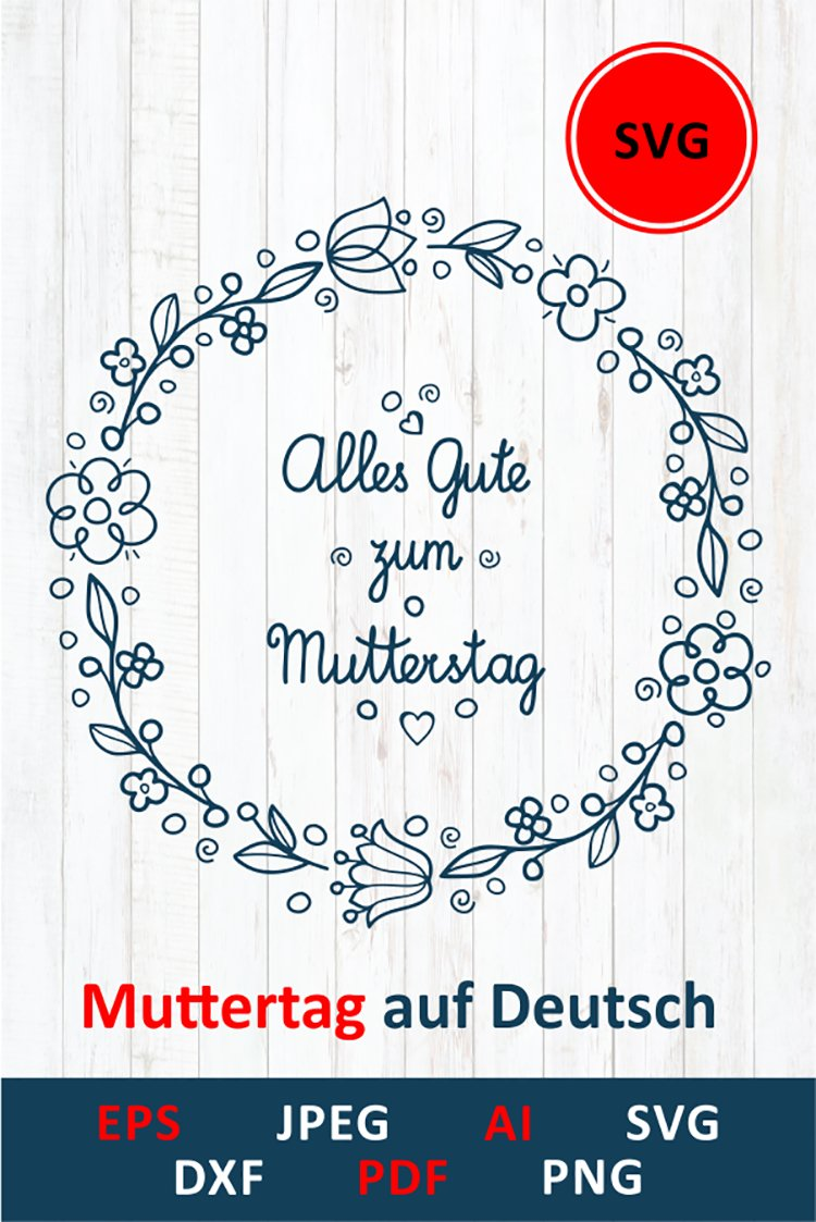 svg Happy mother's day greeting card in Deutschland example image 10