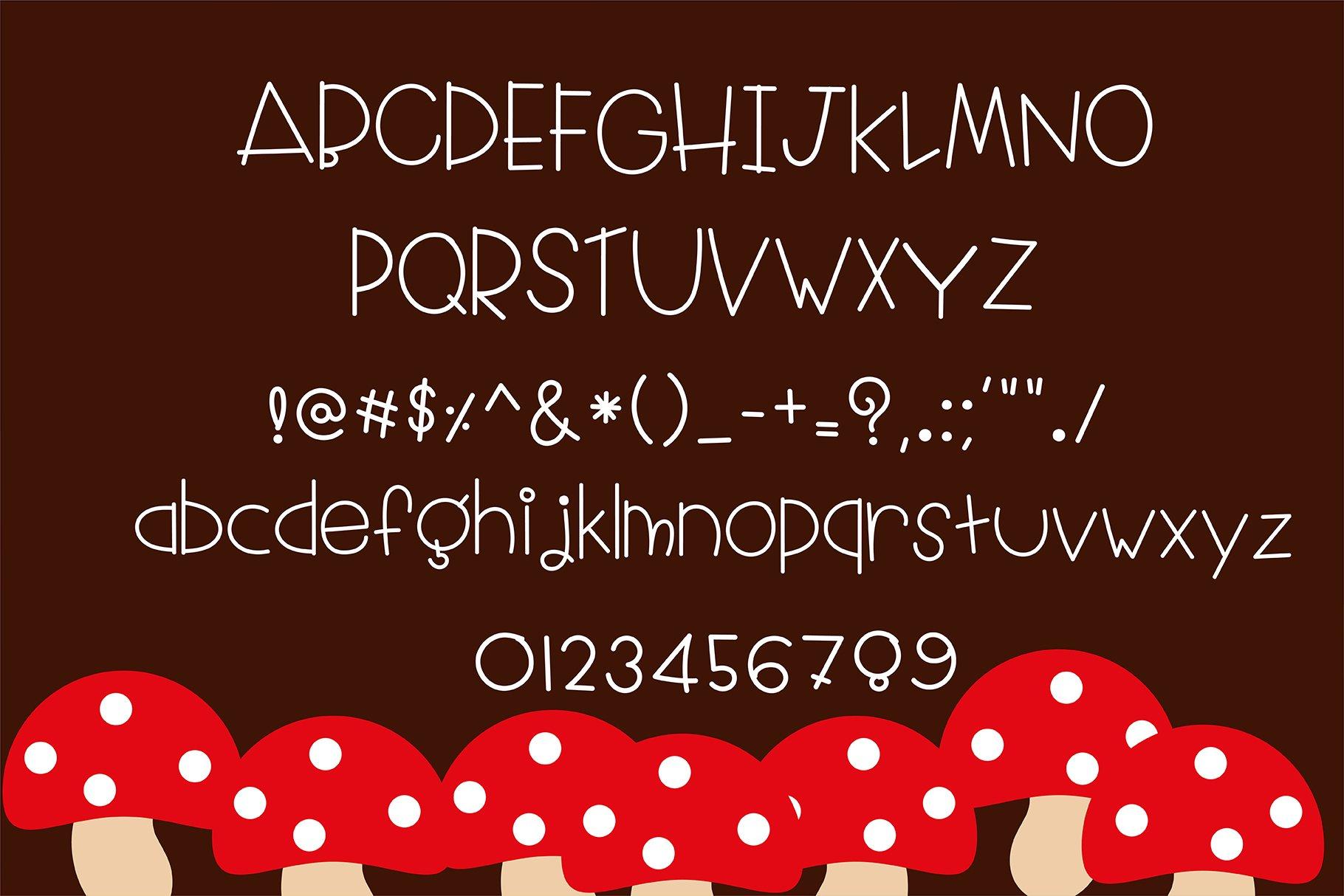 Little red riding hood Handwritten- cute kid font Kawaii example image 5