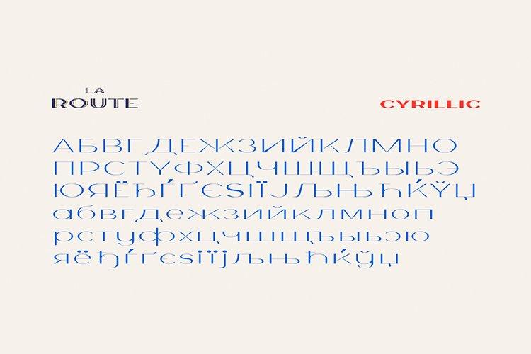 La Route Typeface example image 7