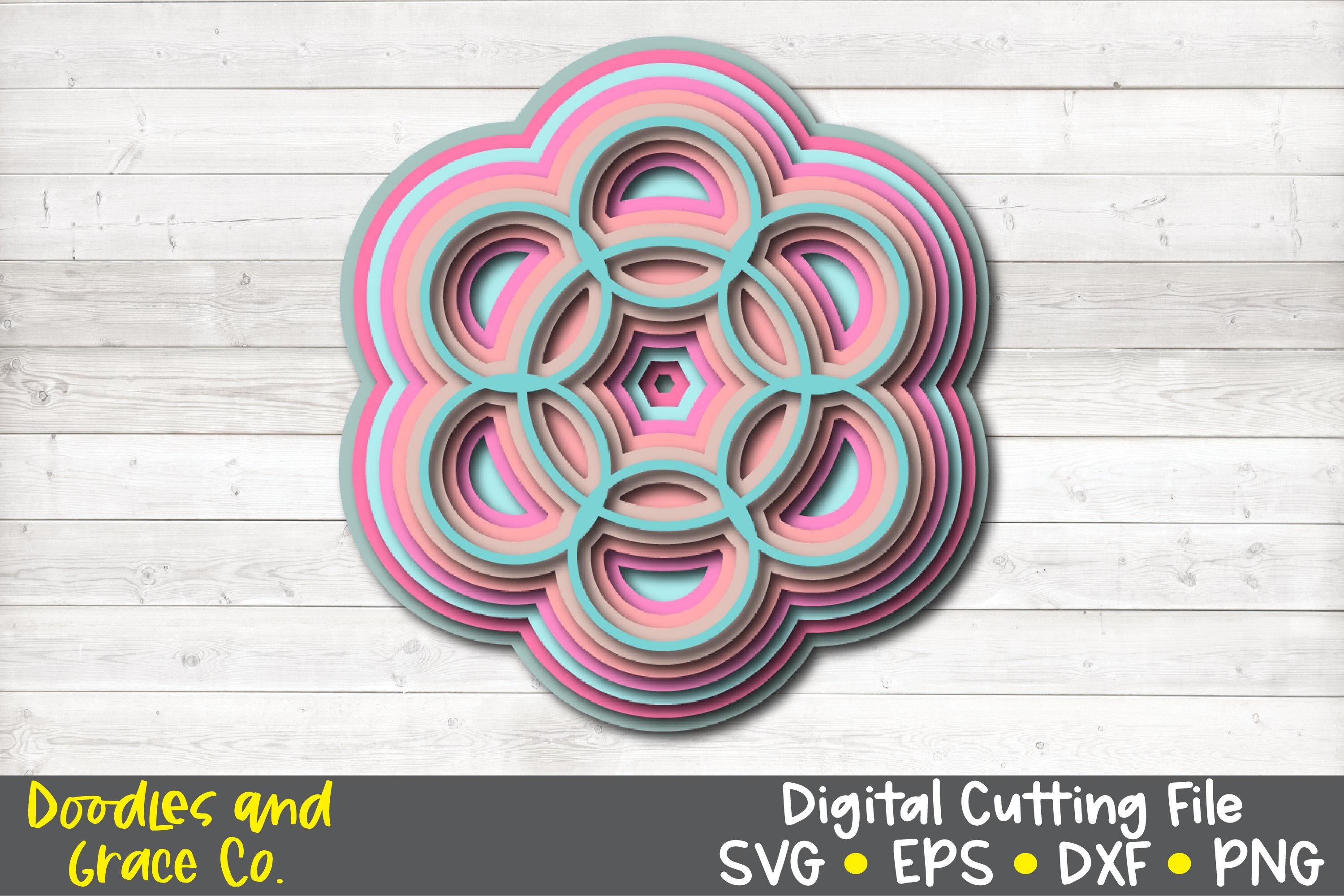 3D Layered Mandala Bundle - SVG - PNG - EPS - DXF example image 3