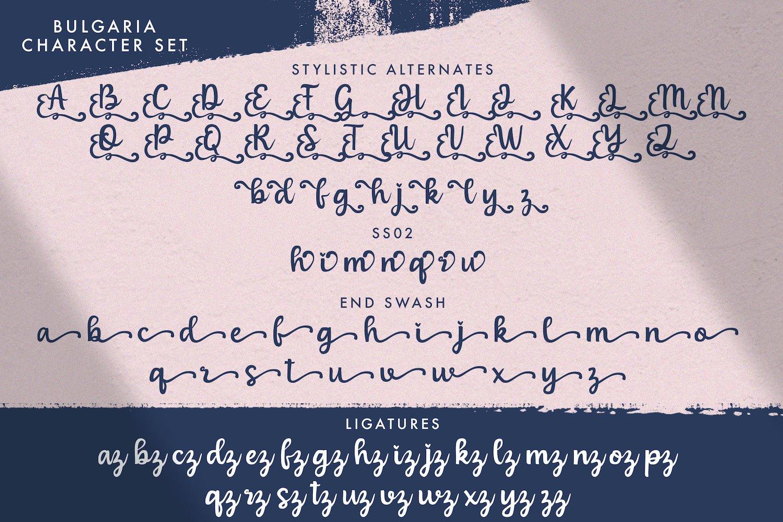 Bulgaria - Modern Calligraphy Font example image 14
