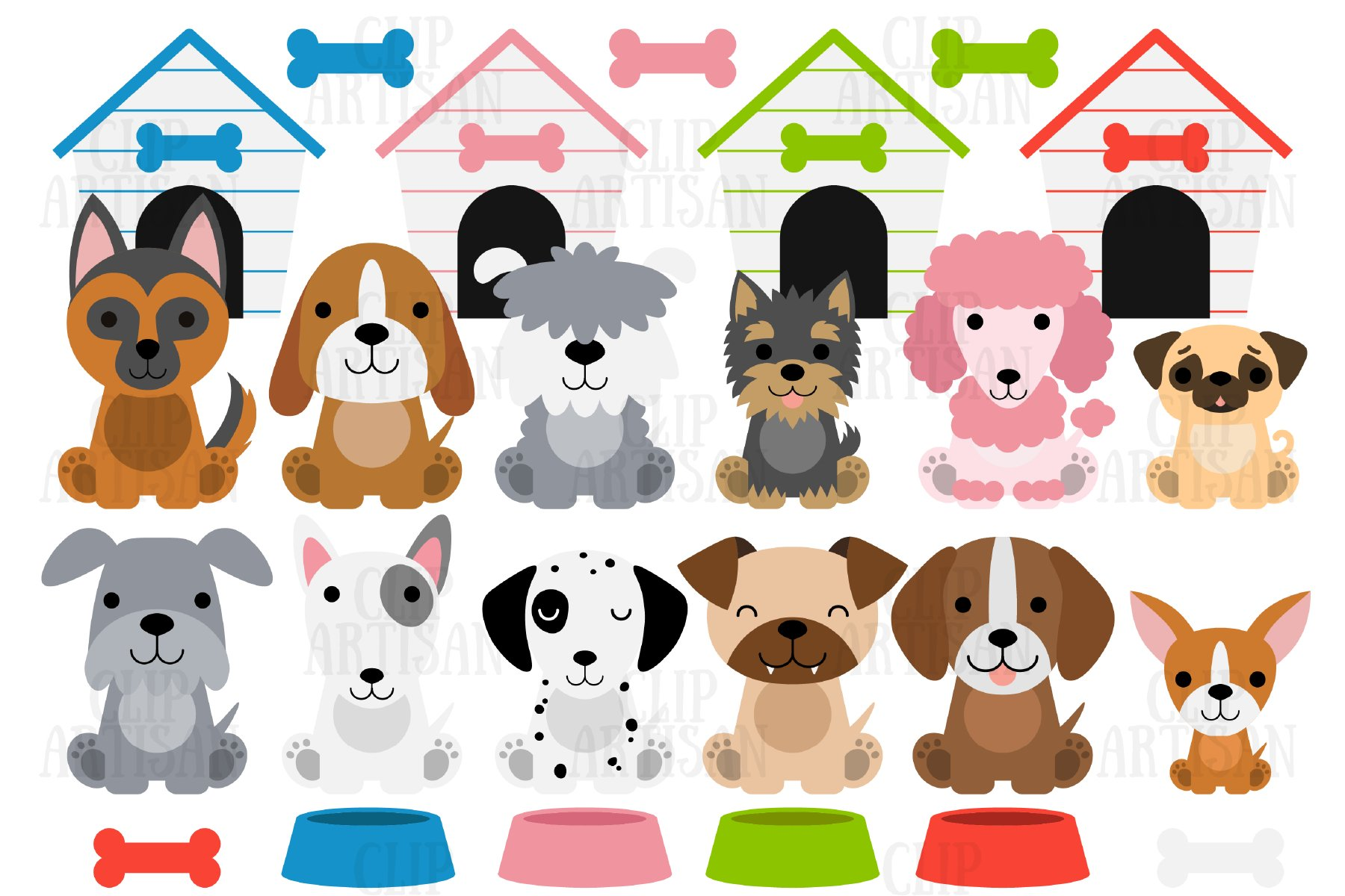Dog Clipart Puppies Puppy Dog Cute Dogs 385350 Illustrations Design Bundles