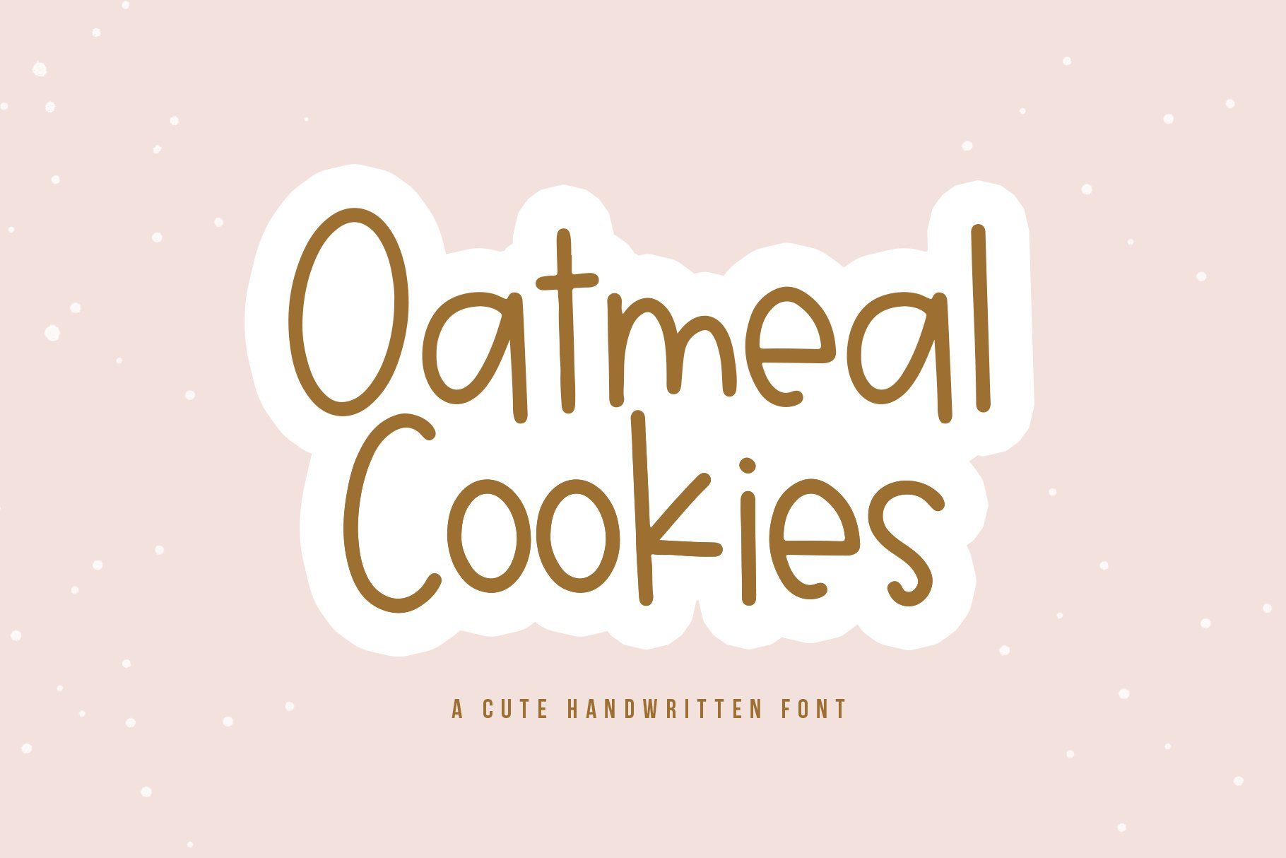 Oatmeal Cookies - A Cute Handwritten Font example image 1