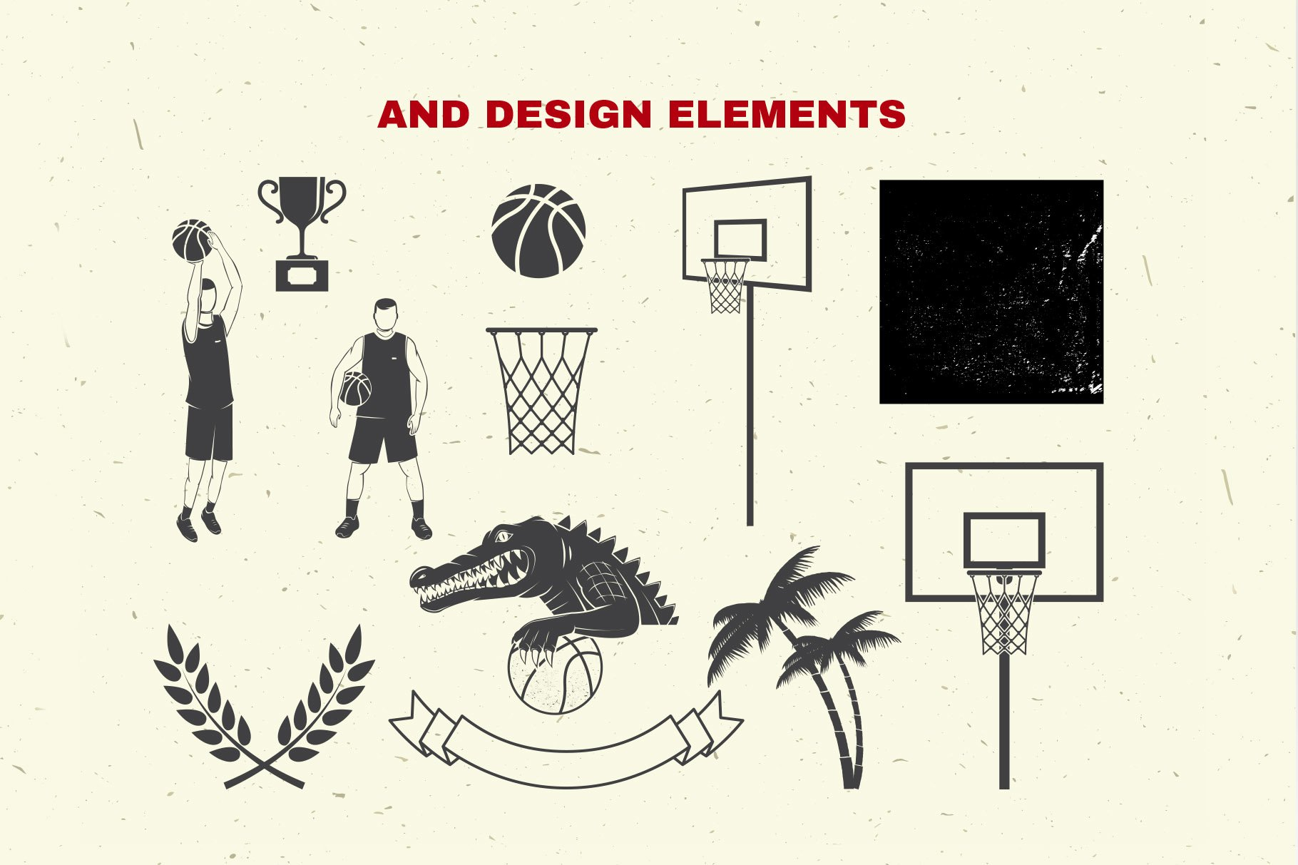 Basketball Club Badges and Labels example image 9