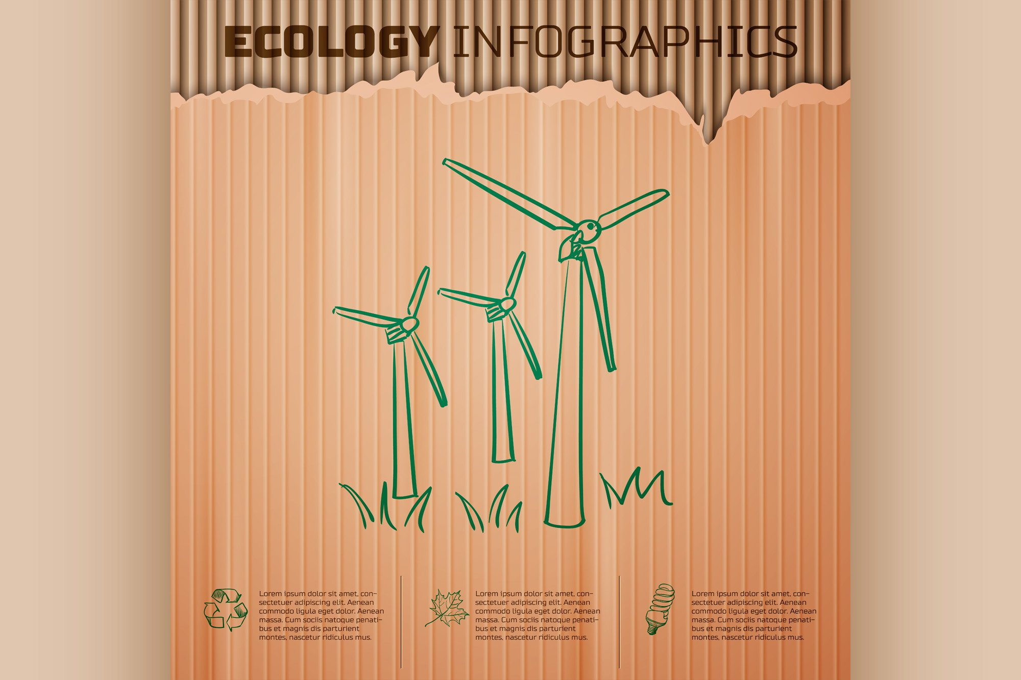 Ecology infographics background example image 1
