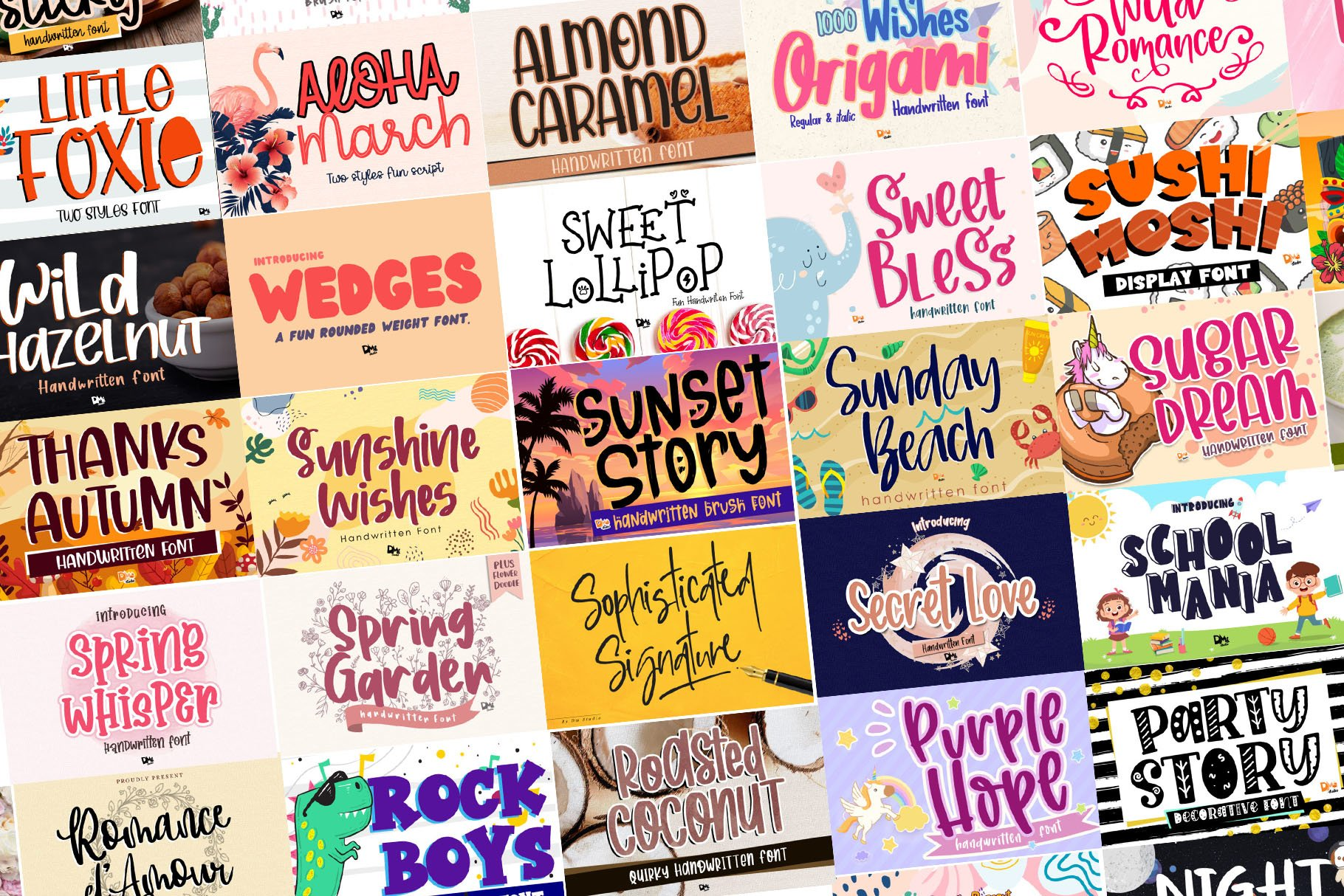 BIG BUNDLE - Seasonal Crafting Font Collection!! example image 14