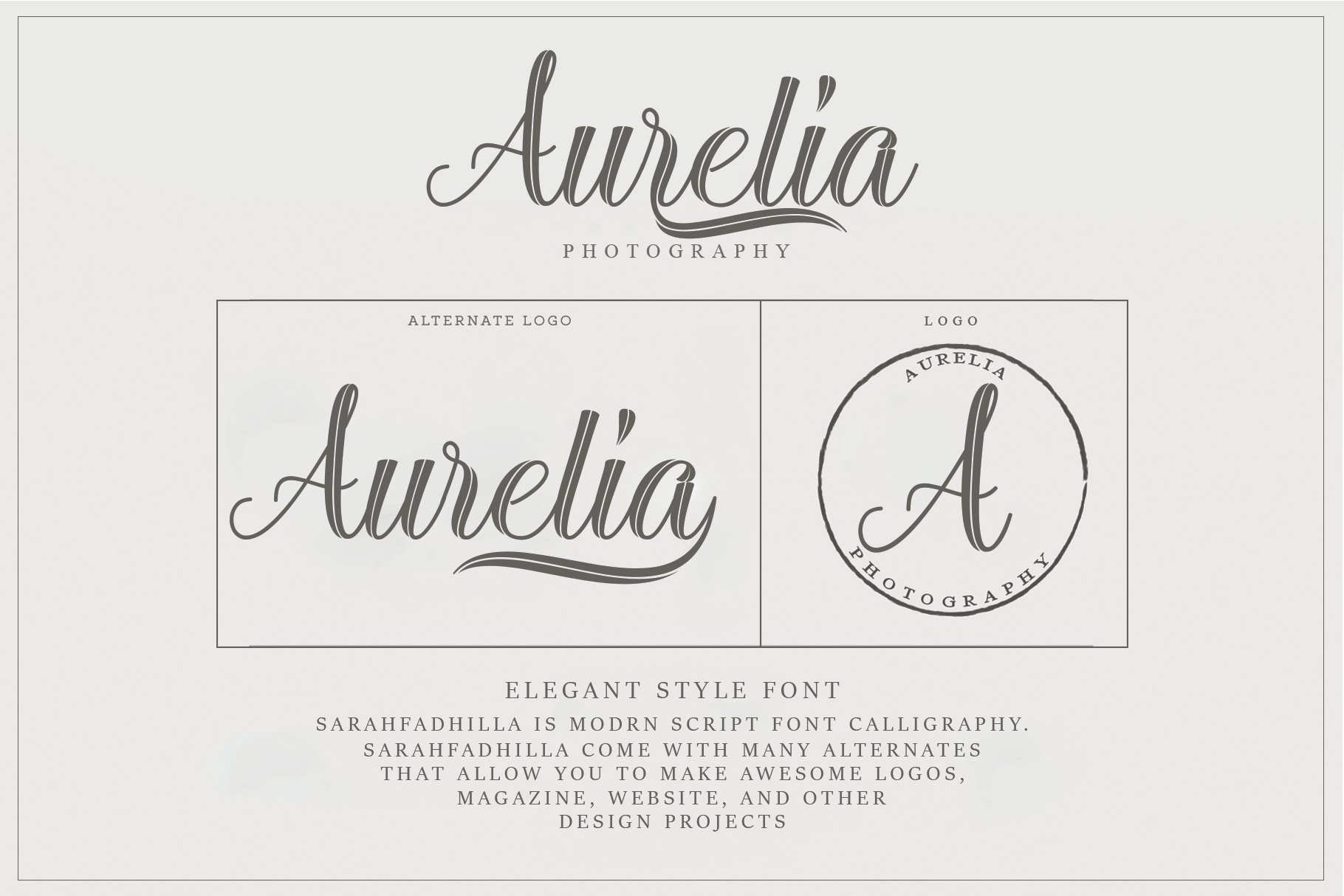 12 graceful charming fonts example image 5