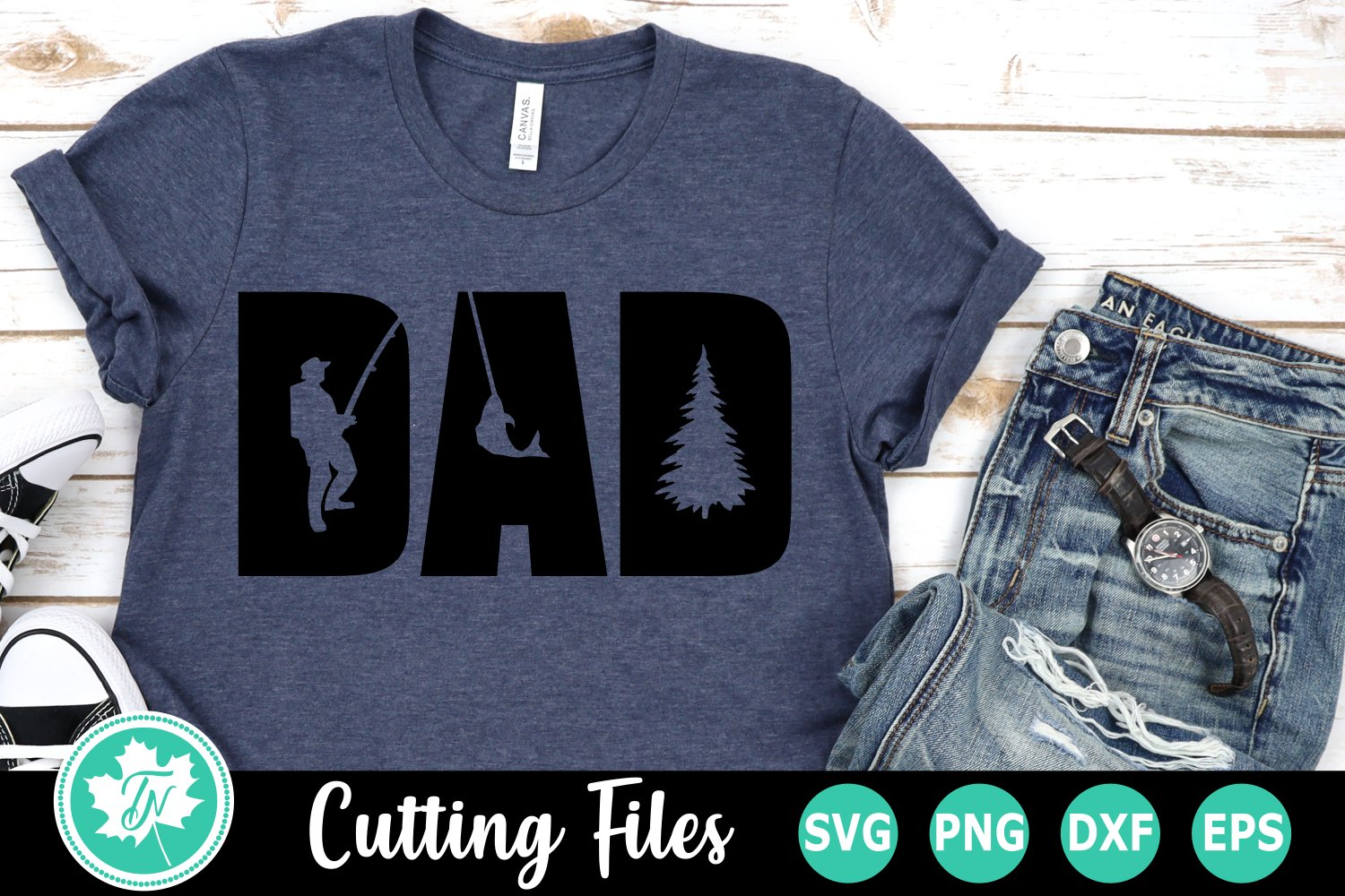 Download Dad Fishing A Father S Day Svg Cut File 532864 Cut Files Design Bundles