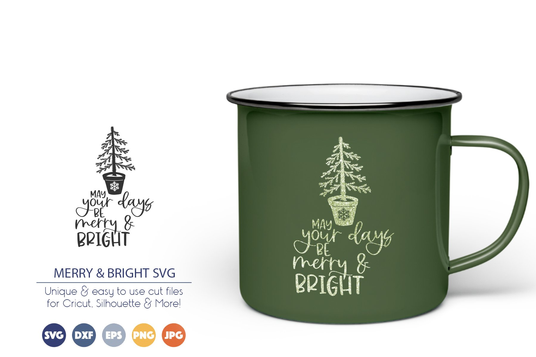 May Your Days Be Merry & Bright SVG | Christmas Tree SVG example image 1