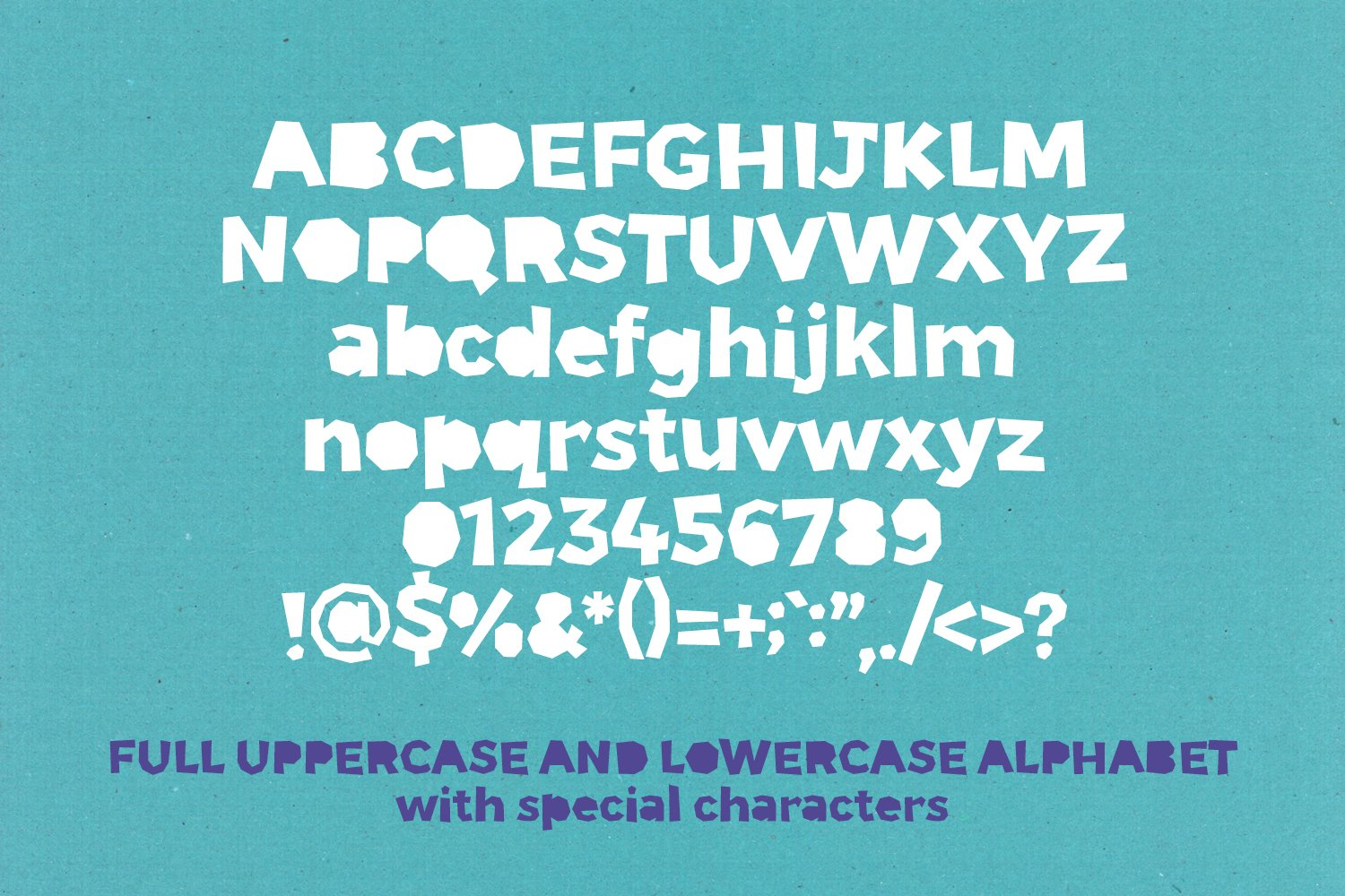 Paper Phil - a papercut craft style font example image 2
