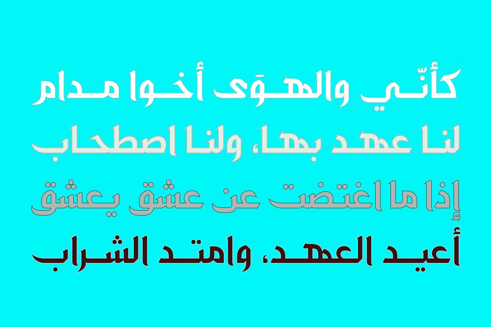 Zahey - Arabic Font example image 6