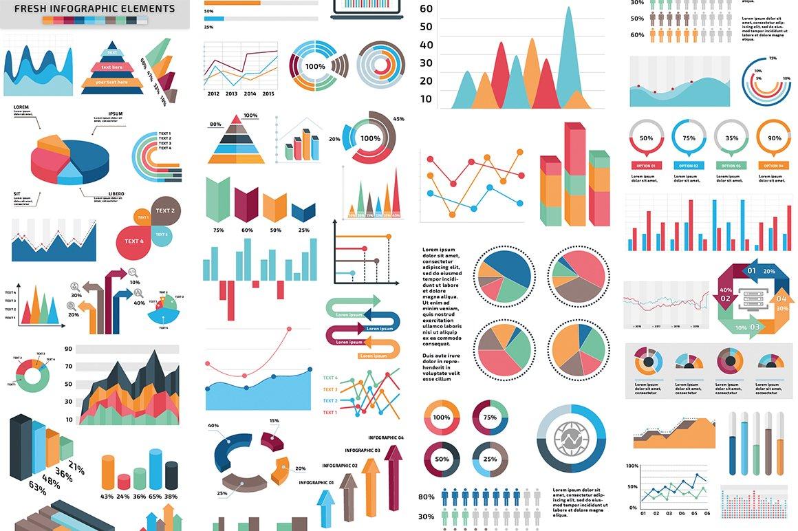 1000 Ultra Big Bundle Infographics Elements example image 3