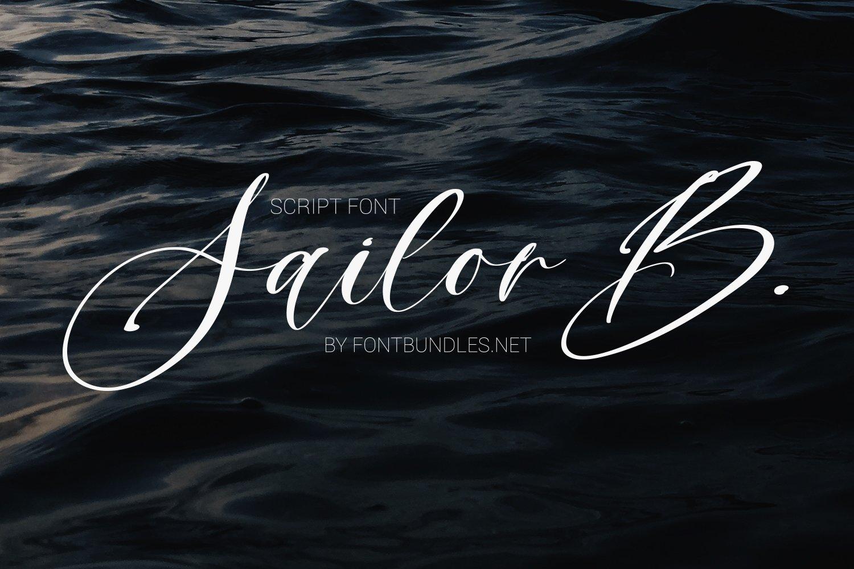 Sailor B Script font example image 1