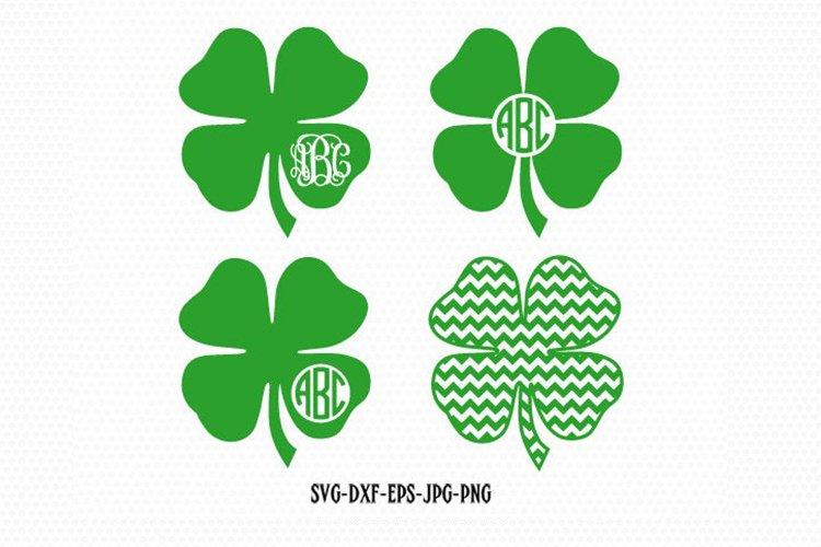 Shamrock Monogram Frames Svg St Patrick S Day Svg 477163 Cut Files Design Bundles