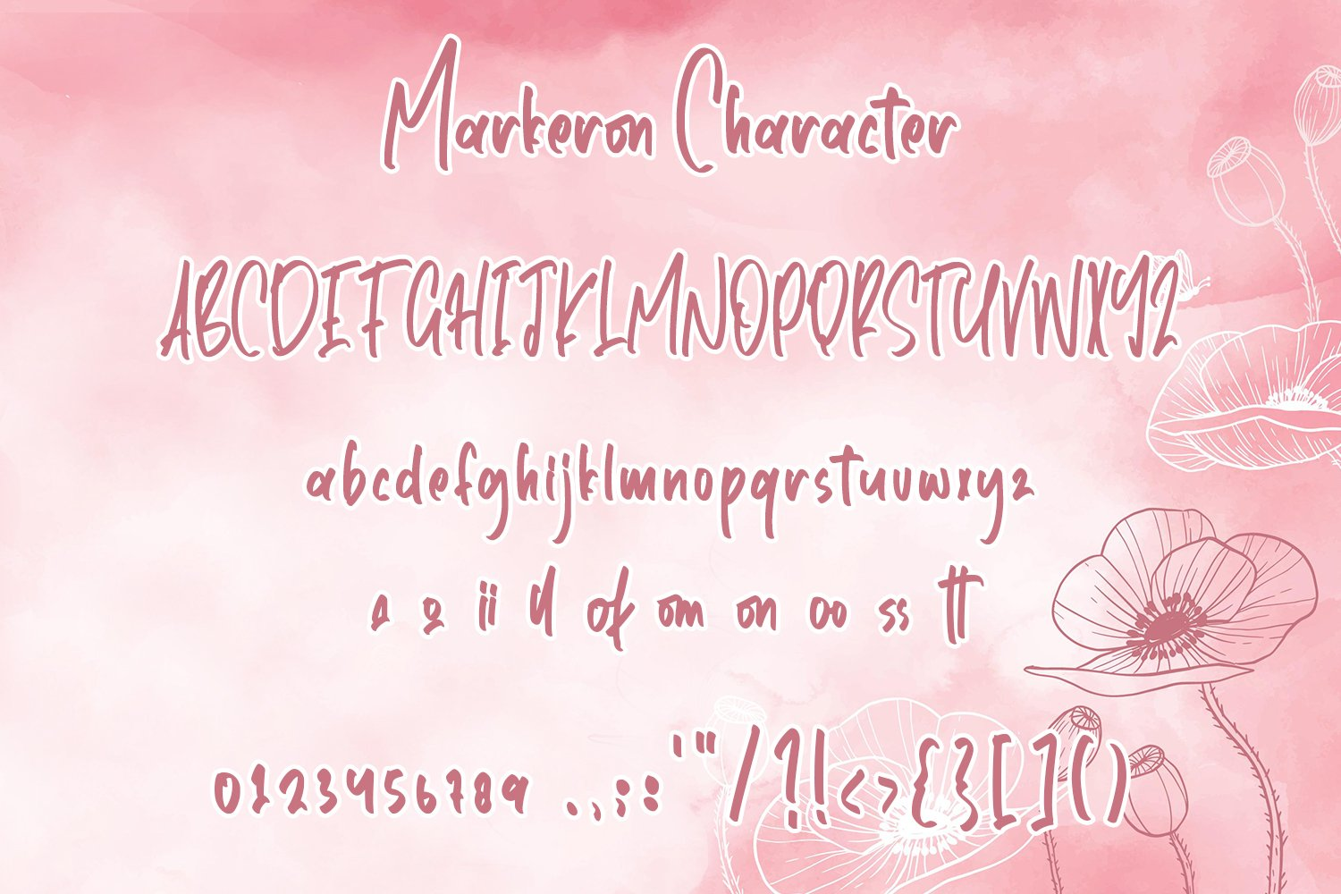 Markeron - Marker Font with Swash example image 8
