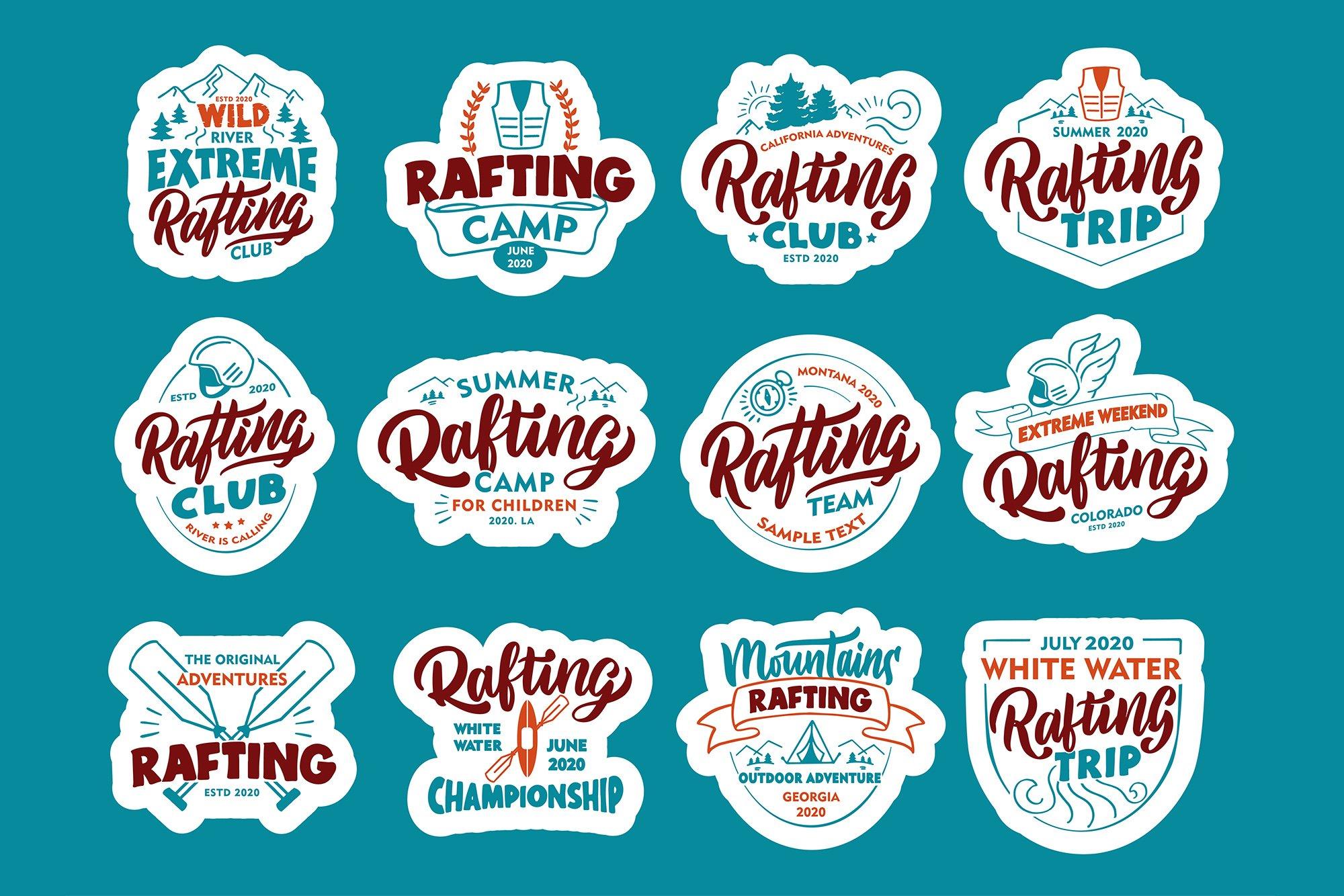 Set of Rafting logos example image 5