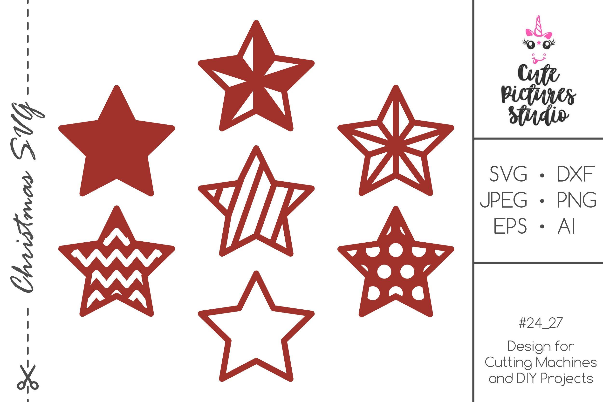 Christmas Stars Set Svg Dxf Cut File Holiday Xmas Stars Svg 382845 Svgs Design Bundles