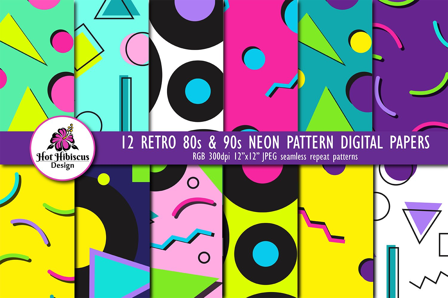 His Palette Social Media of the 80s /& 90s Printable