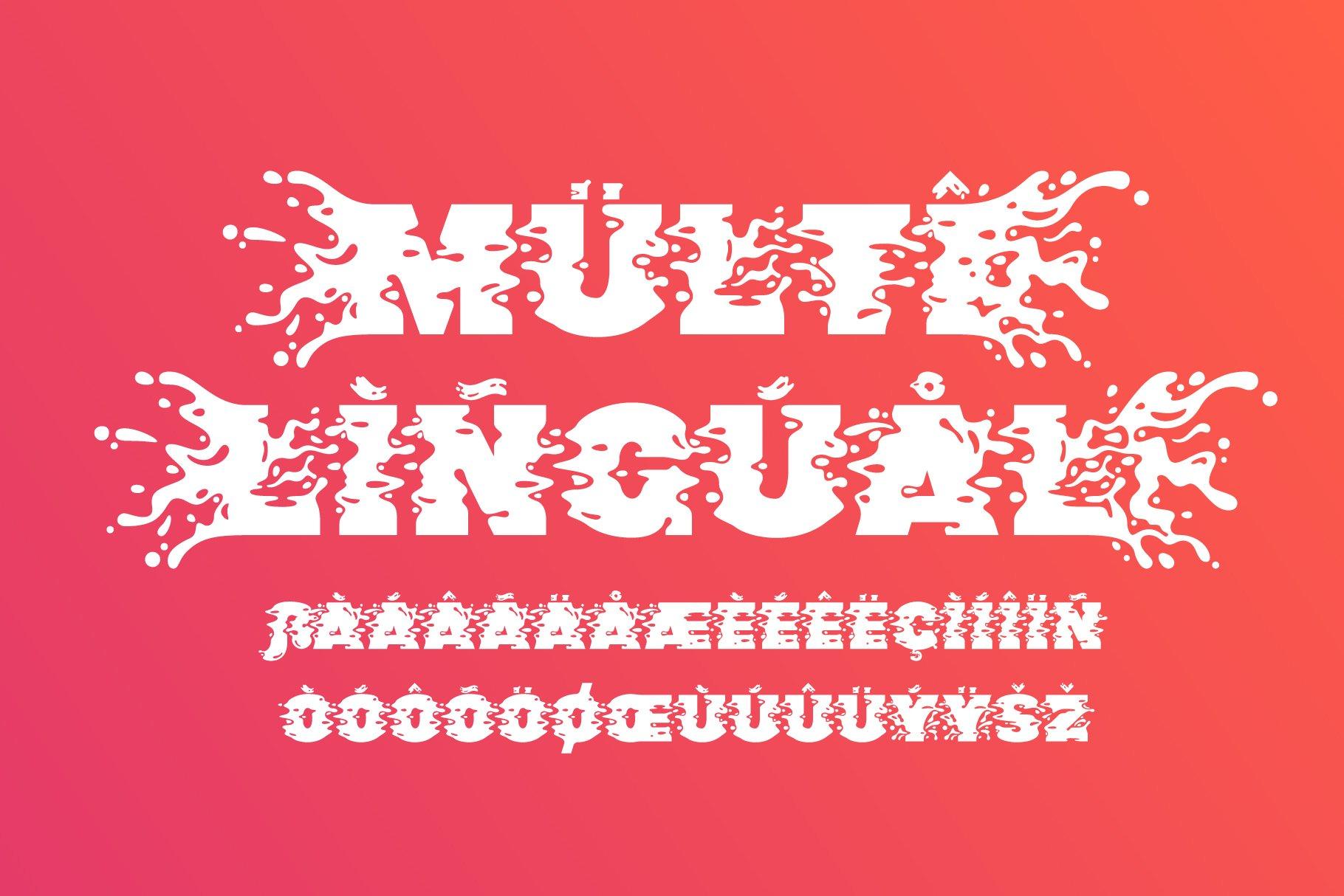 Plop liquid font example image 5