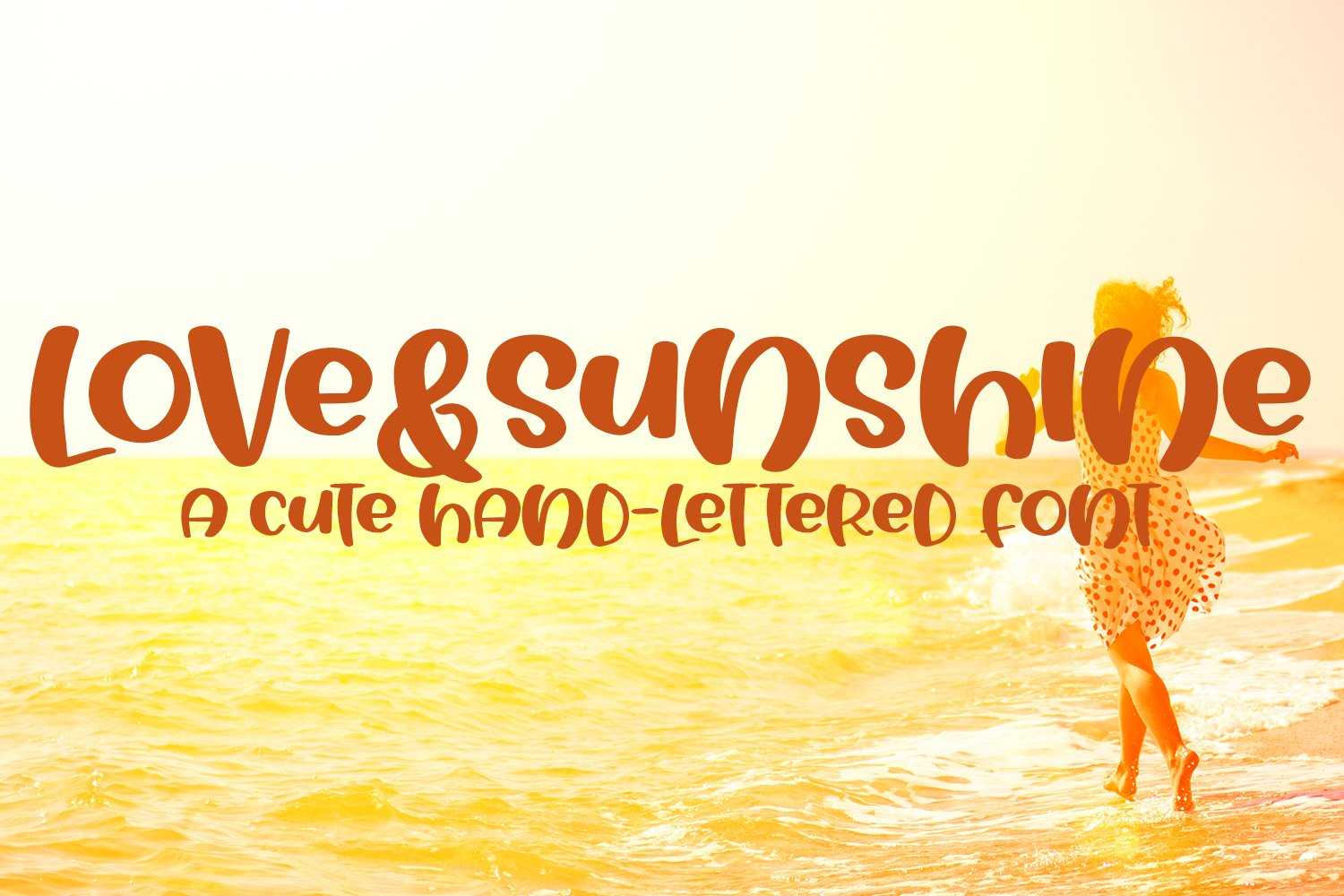 Love&Sunshine - A Cute Hand-Lettered Bold Font example image 1