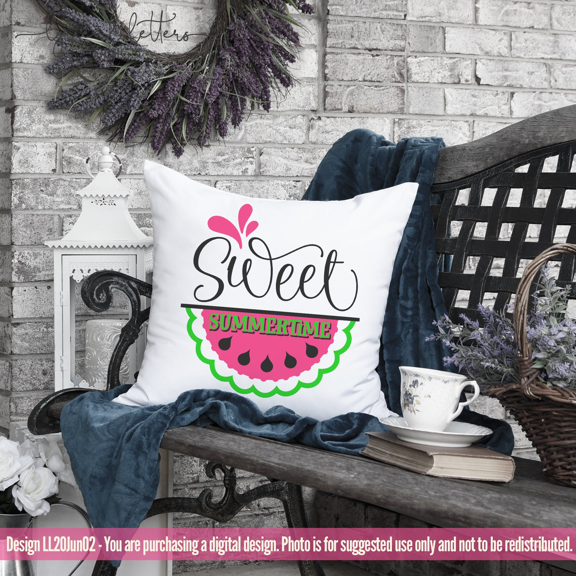 Sweet Summertime Watermelon SVG DXF Cut File LL20Jun02 example image 3